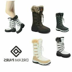 DREAM PAIRS Women's Waterproof Warm Faux Fur Mid Calf Snow B