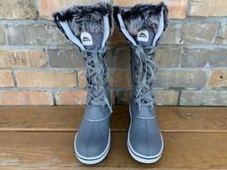 ALEADER Women's Waterproof Winter Snow Boots, Dark Gray, Siz