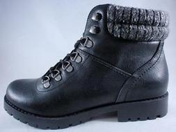 RAMPAGE Wilona Women's Ankle Boots Black Lace Up Biker Style