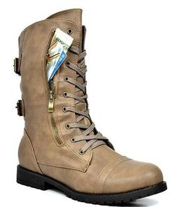 DREAM PAIRS Women's Winter Lace up Combat Booties Boots