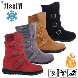 Women's Winter Warm Ankle Boots Ladies Fur Thicken Snow Buck