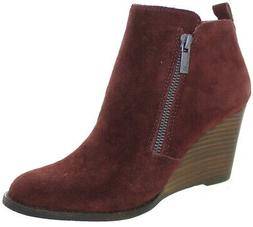 Lucky Brand Women's Yarta Oiled Suede Wedged Ankle Booties S