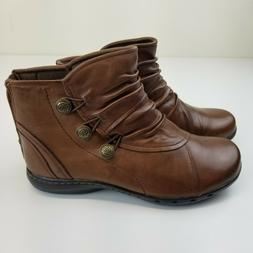 Womens 6.5 XW Shoes Rockport Cobb Hill Booties Penfield Boot