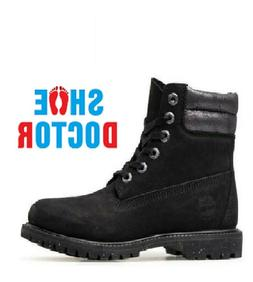 """TIMBERLAND WOMENS 6"""" INCH WATERVILLE BLACK WATERPROOF BOOTS"""