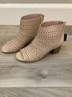 Rampage Women's Ankle Boots Open Toe New Size 6