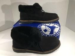 BIRKENSTOCK Womens Bakki Black Suede Lined Winter Boots Shoe