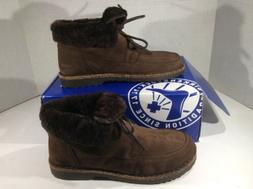 BIRKENSTOCK Womens Bakki Brown Suede Lined Winter Boots Shoe