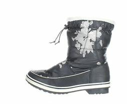 Global Win Womens Black Snow Boots Size 10