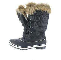 Global Win Womens Black Snow Boots Size 9.5