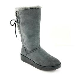 Rampage Womens Boots Size 6M Rebecca Gray Faux Suede Lace Up