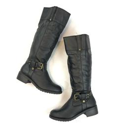 Rampage Womens Boots Size 7.5 Matangi Black Faux Leather Tal