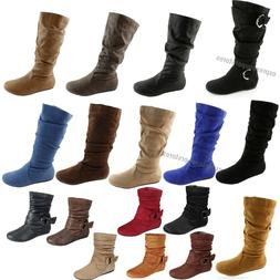 womens boots slouch below the knee high