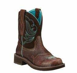 WOMENS ARIAT BROWN CHOCOLATE FUDGE COWGIRL BOOTS FATBABY 100