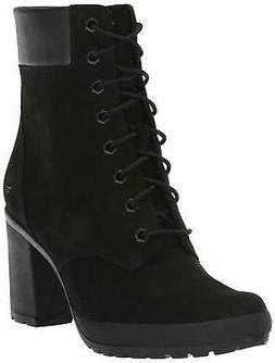Timberland Womens Camdale Leather Round Toe Ankle, Black Nub