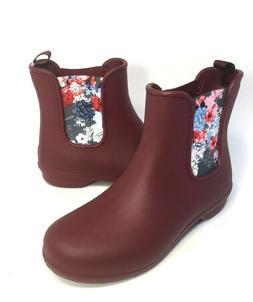 Crocs Womens Chelsea Rain boots booties Size 7 Garnet/Floral