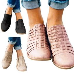 Womens Chunky Low Heel Ankle Boots Ladies Almond Toe Casual