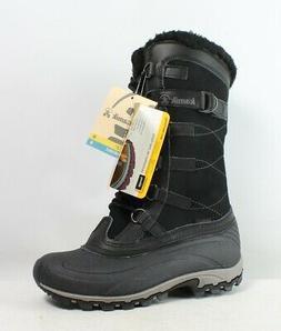 Kamik Womens Citadel Black Insulated Waterproof Snow Boots