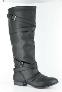 TOP MODA WOMENS COCO-61 BLACK RIDING BOOTS
