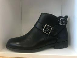 Vionic Womens Country Logan Black Ankle Boots Size 7 Medium