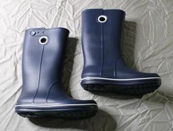 Crocs Women's Crocband Jaunt Slip-On Rain Boots RH8 Blue S