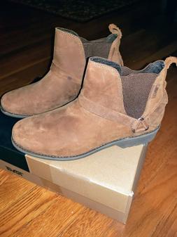 Teva Womens De La Vina Dos Chelsea Waterproof Leather Bison/