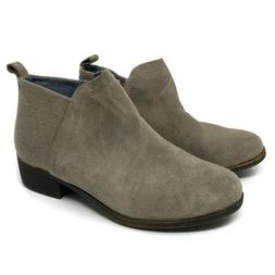 TOMS Womens Deia Desert Taupe Suede Ankle Booties Boots 1000