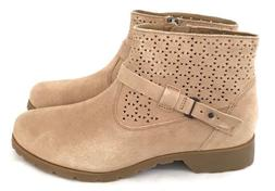 Teva Womens Delavina Ankle Perf Tan Soft Suede Boots Size 8