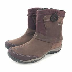 Merrell Womens Dewbrook Zip Waterproof Bourbon Winter Boots