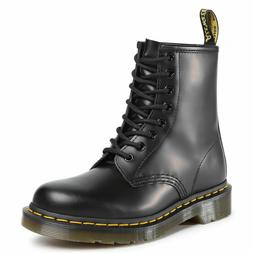 Womens Dr Martens 1460 W 8 Eye Black Smooth Leather Lace Up