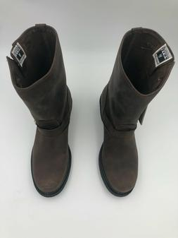 """FRYE Womens Engineer 12""""R 77400 Pull On Boots Gaucho Brown S"""