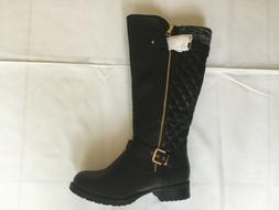 Global Win Women's Fashion Boots BLACK SIZE 9