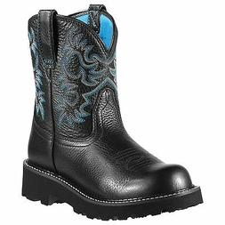 Ariat Womens Fatbaby Black Deertan Blue Liner 10000833