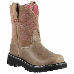 Ariat Womens Fatbaby Brown Bomber Pink Liner 10000822