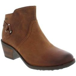Teva Womens Foxy Brown Leather Ankle Booties Shoes 5.5 Mediu