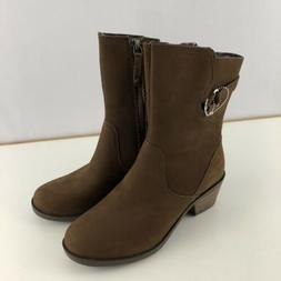 Teva Womens Foxy Mid Calf Boots Brown Leather Size 6.5 6 1/2