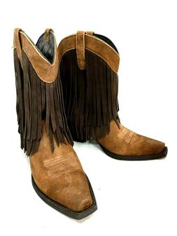 WOMENS ARIAT FRINGE WESTERN BOOTS STYLE 10016350 SIZE 8.5M