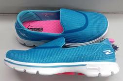 Skechers Womens Go Walk 3  Slip On Walking Shoes -13980/Turq