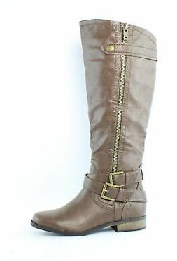 Rampage Womens Hansel Brown Smooth Fashion Boots Size 7.5