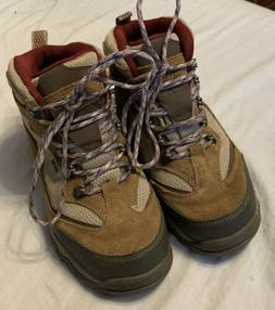 Womens Hi-Tec Skamania Mid WP Waterproof Hiking Boots Tan Su