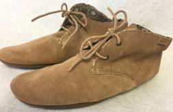 Sanuk Womens Ivana Chukka Tobacco Tan Soft Suede Oxford Shoe
