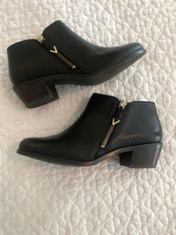 Vionic Womens Joy Jolene Black Booties Size 7