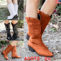 womens ladies cowgirl cowboy boots ladies mid