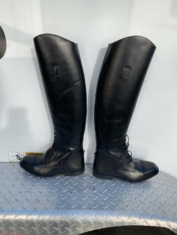 TuffRider Women's Leather Field Horse Riding Black Boots S