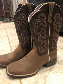Ariat Womens Leather Western Boots Cowboy Brown Size 9 1/2