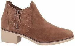 Reef Womens low ankle booties Suede Almond Toe Ankle Fashion