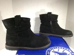 BIRKENSTOCK Womens Luton Black Suede Booties Ankle Boots Sho