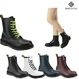 DREAM PAIRS Womens Martin Military Combat Ankle Boots Lace U