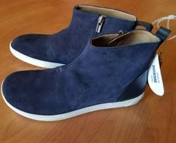 Womens  Birkenstock Myra Navy Blue Suede Ankle Boots Booties