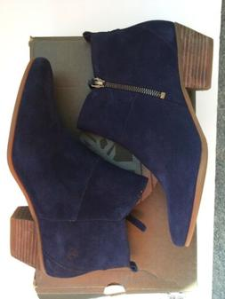 Timberland Womens Navy Blue Suede Ankle Boots Size 9.5 A19QV