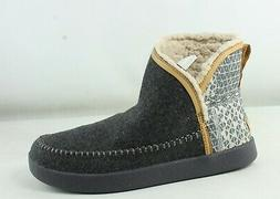Sanuk Womens Nice Bootah Ojai Charcoal Grey Booties Size 9.5